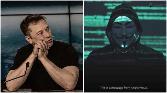 Anonymous hacking group threat to elon musk for bitcoin