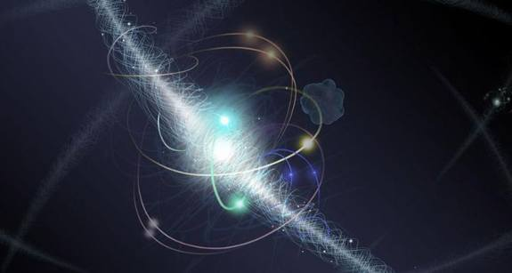Qubit empty space with no electrons