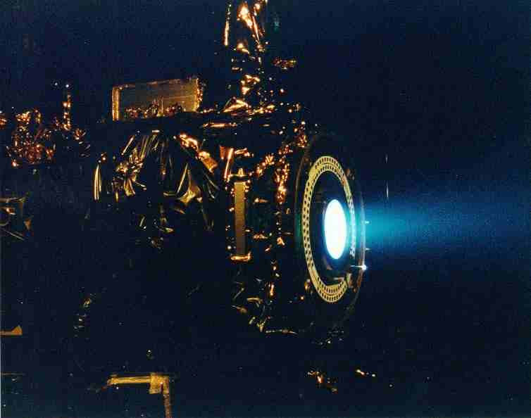 Ion thruster of NASA's Deep Space 1.