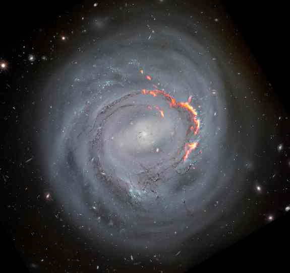 Gas Re-accretion In Dying Galaxies Observed By Scientists