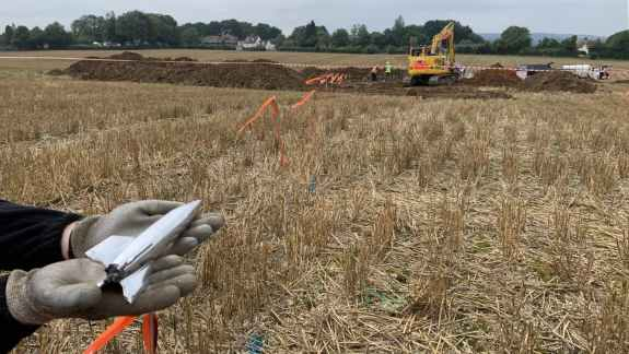 V2 impact site near Platt in southeast of England is sixth that Colin and Sean Welch have excavated over more than 10 years.