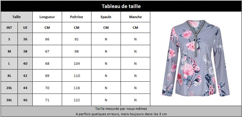 Blouse femme chic taille