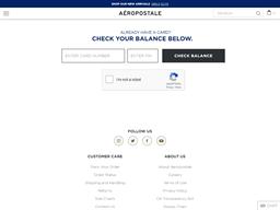 Aeropostale | Gift Card Balance Check