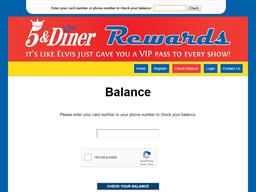 5 & Diner Reward   Gift Card Balance Check   Balance Enquiry, Links & Reviews, Contact & Social, Terms and more - gcb.today