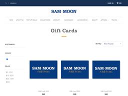 Sam Moon   Gift Card Balance Check   Balance Enquiry, Links & Reviews, Contact & Social, Terms and more - gcb.today
