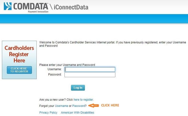 How to Forgot ComData Card Login Password?