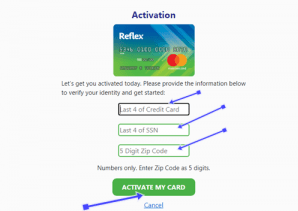 How to Activate my Reflex Credit Card