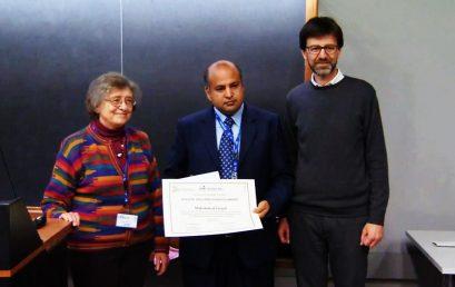 Dr Faryad rewarded with the prestigious ICO/ICTP Gallieno Denardo Award 2019