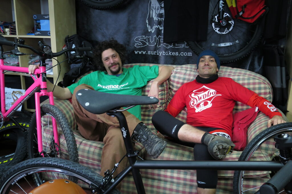 Charlie and Markus on the couch in 2014
