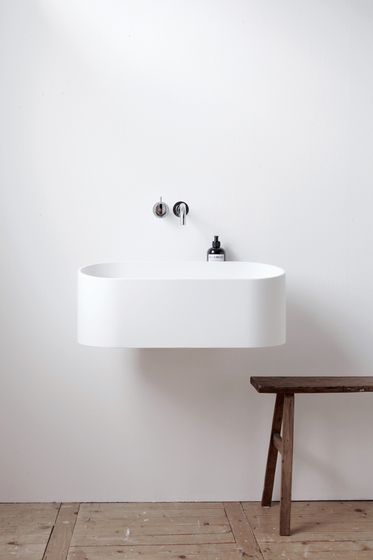 minimalist wet room basin