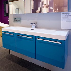 Teal Triple Cupboards from Bathroom Warehouse, Winchester
