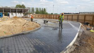 DCS McDonald's Wellingborough Printed Concrete Drive-Thru 0746