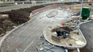 DCS McDonald's Snowhill Wakefield Printed Concrete Drive-Thru Lane 0845