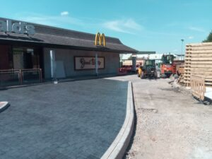 DCS McDonalds Brislington Bristol Printed Concrete Drive Thru 1015