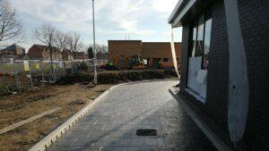 DCS Dunkin Donuts Printed Concrete Drive-Thru Lane, Herten Triangle, Doncaster Lakeside 1083