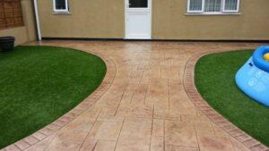 Printed Concrete Patio in Ashlar Slate