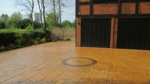 Printed Concrete Driveway with Bespoke Feature