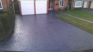 Steel Grey London Cobble Printed Concrete Driveway