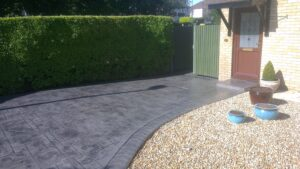 Steel Grey Royal Ashlar Printed Concrete Driveway