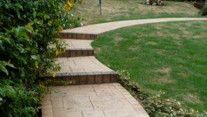 Printed Concrete Steps & Path