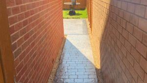 DCS Printed Concrete Path in Platinum Grey London Cobble