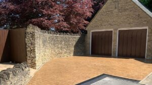 DCS Printed Concrete Driveway in Bideford Buff London Cobble
