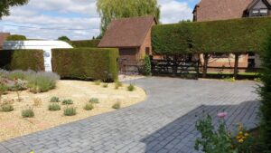 DCS Printed Concrete Driveway in Grey Belgian Block