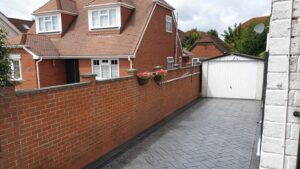 DCS Printed Concrete Driveway in Grey Herringbone Slate