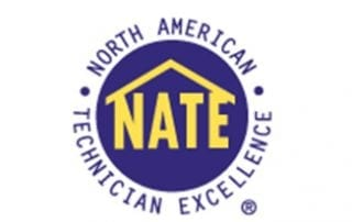 heating and air Nate certified logo