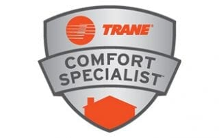 heating and air system manufacturer Trane logo