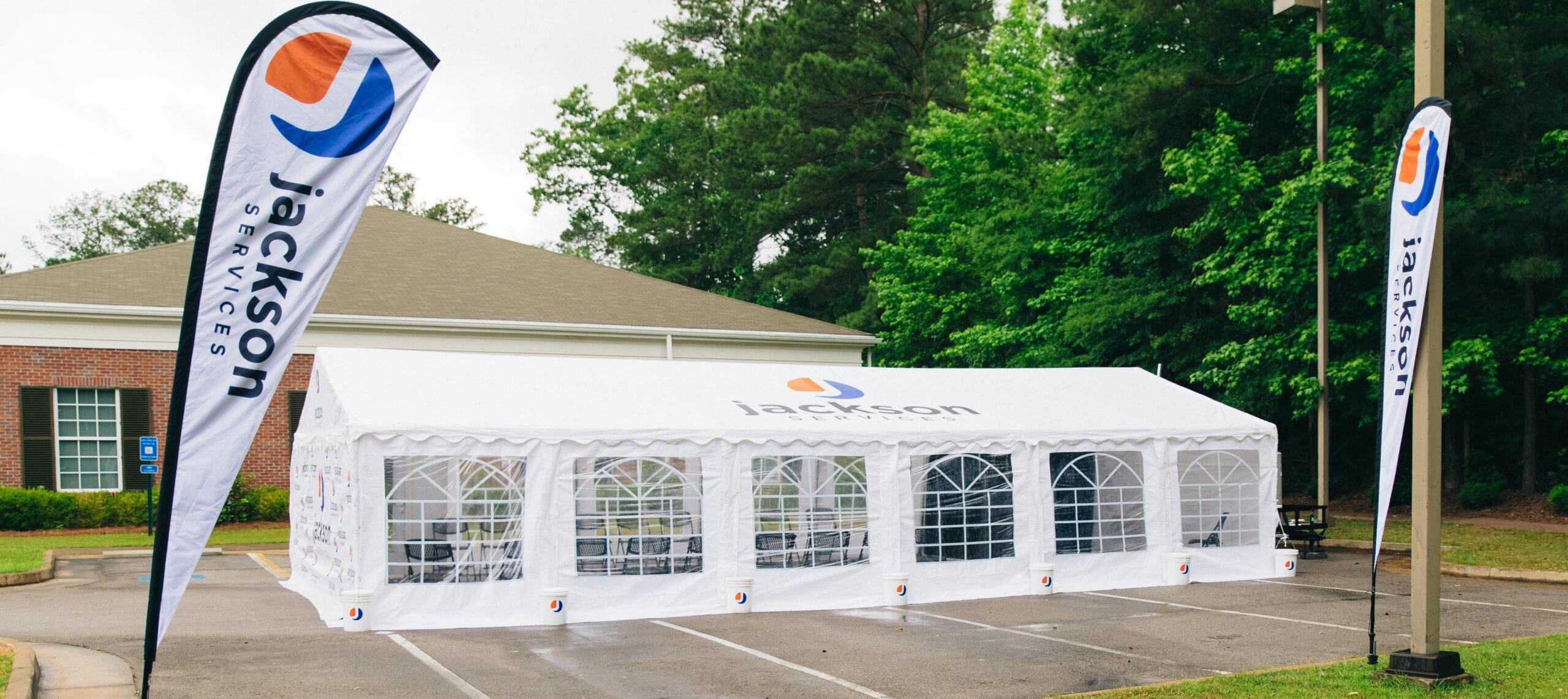 Jackson Services community tent