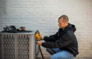 heating and air technician jobs performing service on hvac system