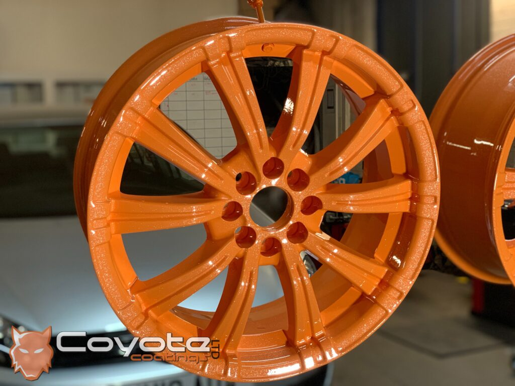 Powder Coated Orange Sparkle