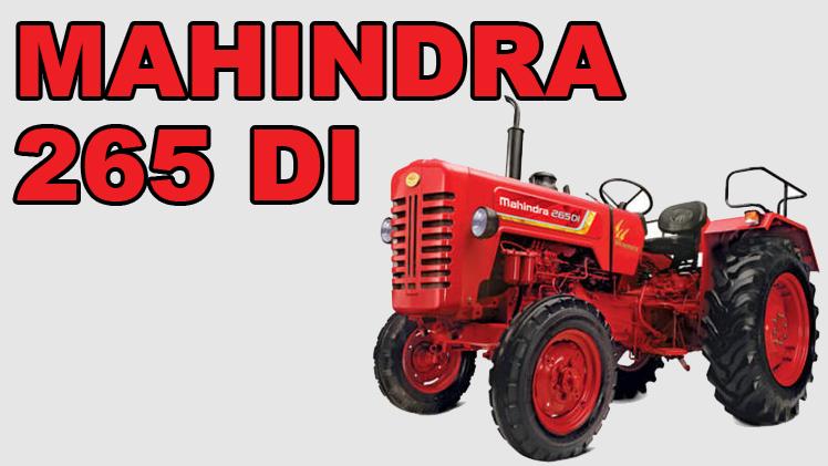 Mahindra Tractors –  Mahindra 265 DI Price specification