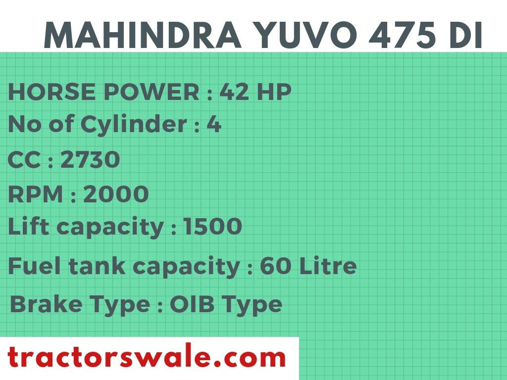 MAHINDRA YUVO 475