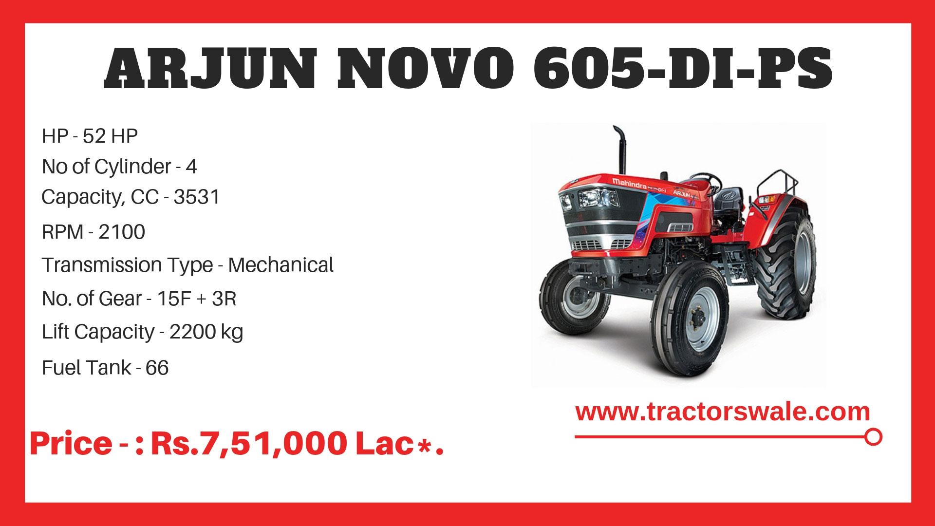 Mahindra-Arjun-Tractor-Novo-605-di-ps-tractor-specification