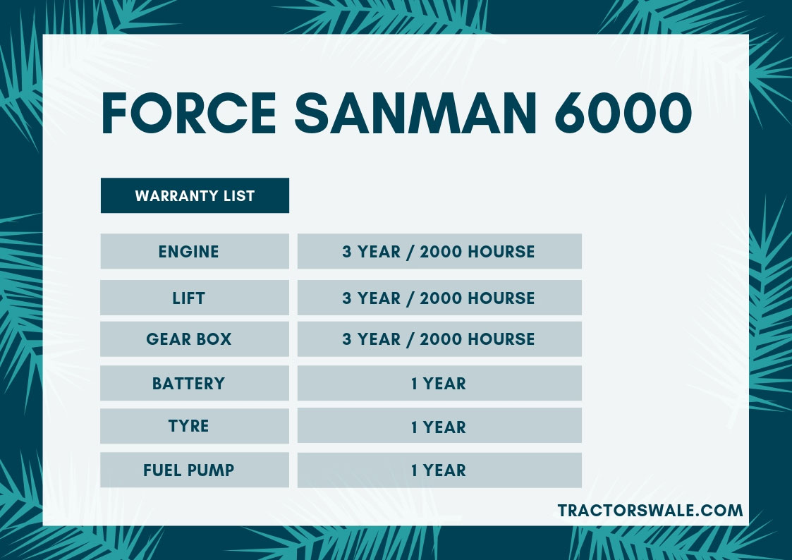 Force Sanman Tractor Specifications 2019