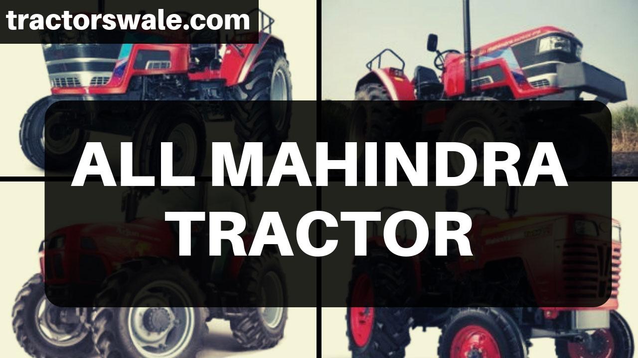 Mahindra Tractors – All New Mahindra Tractor Models 2020