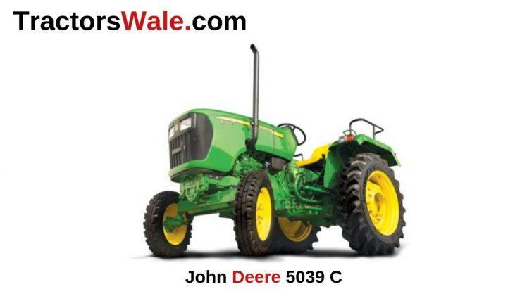 John Deere 5039 C Tractor Price Specifications Mileage 2019