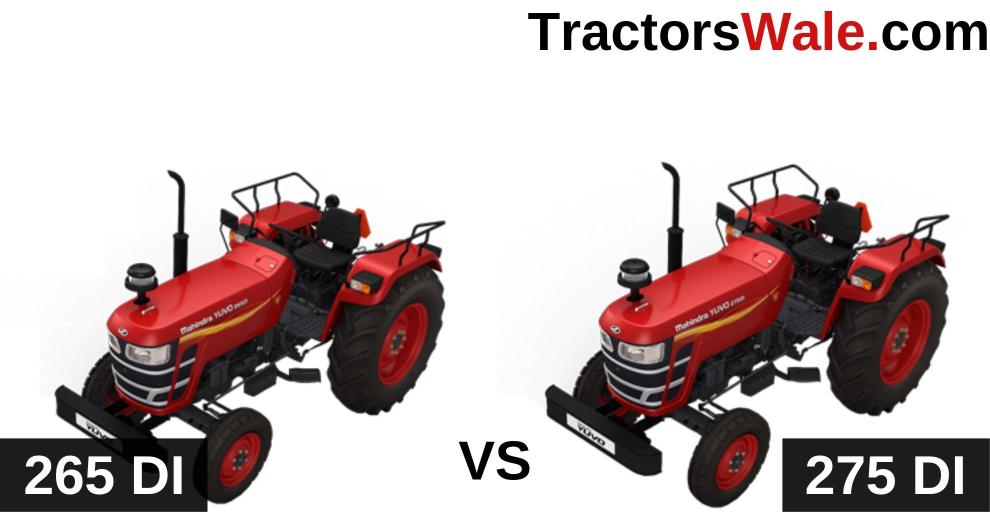 Mahindra Yuvo 265 DI vs Yuvo 275 DI Tractor Comparison