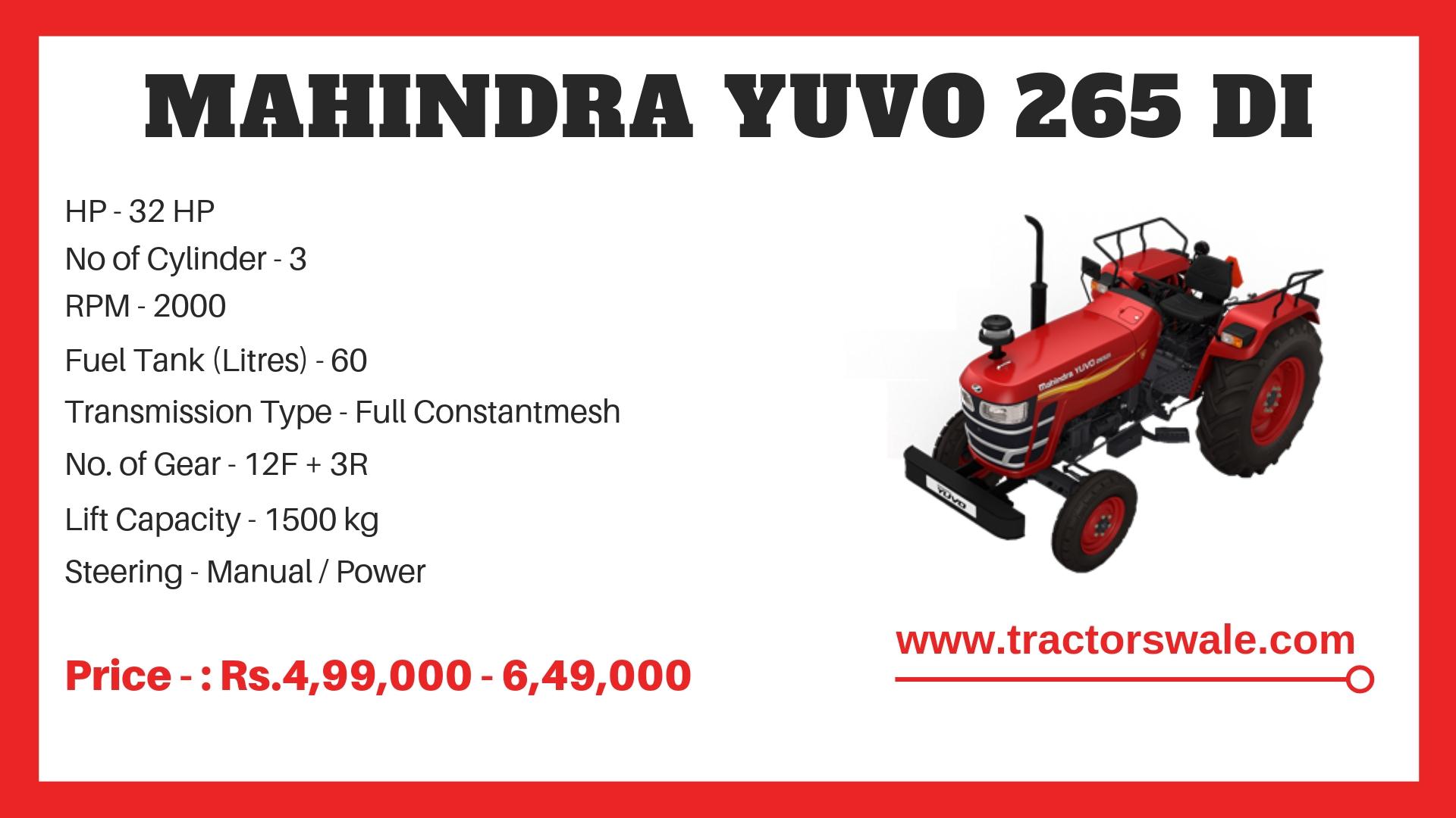 Mahindra Yuvo 265 DI