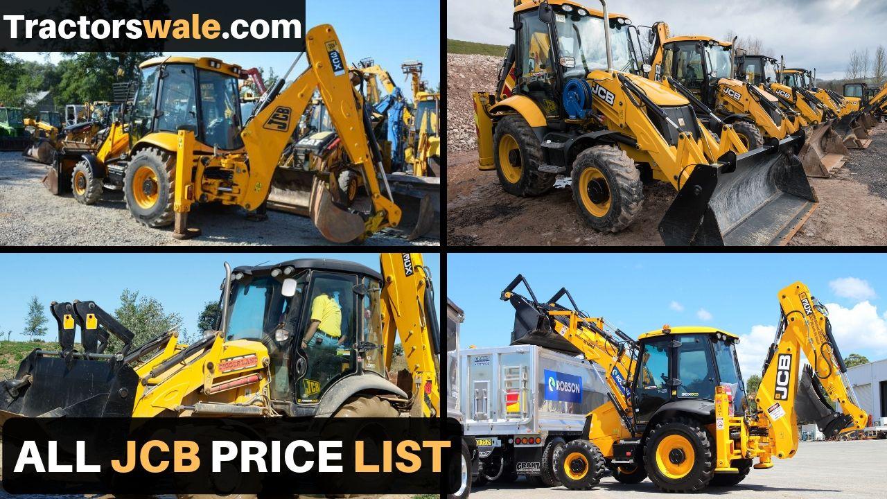 All New JCB Price list in india 2021   JCB Machine