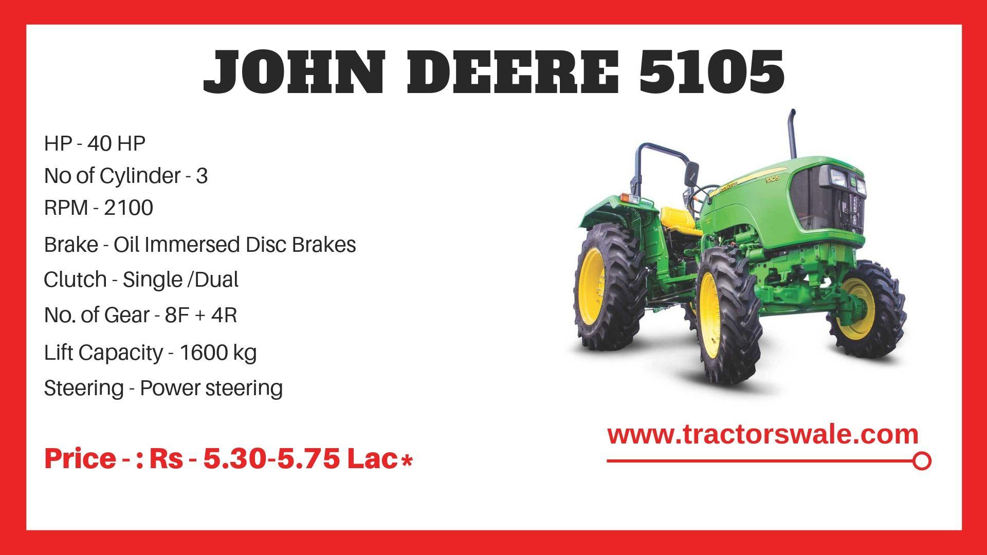John Deere 5105 Tractor Specifications