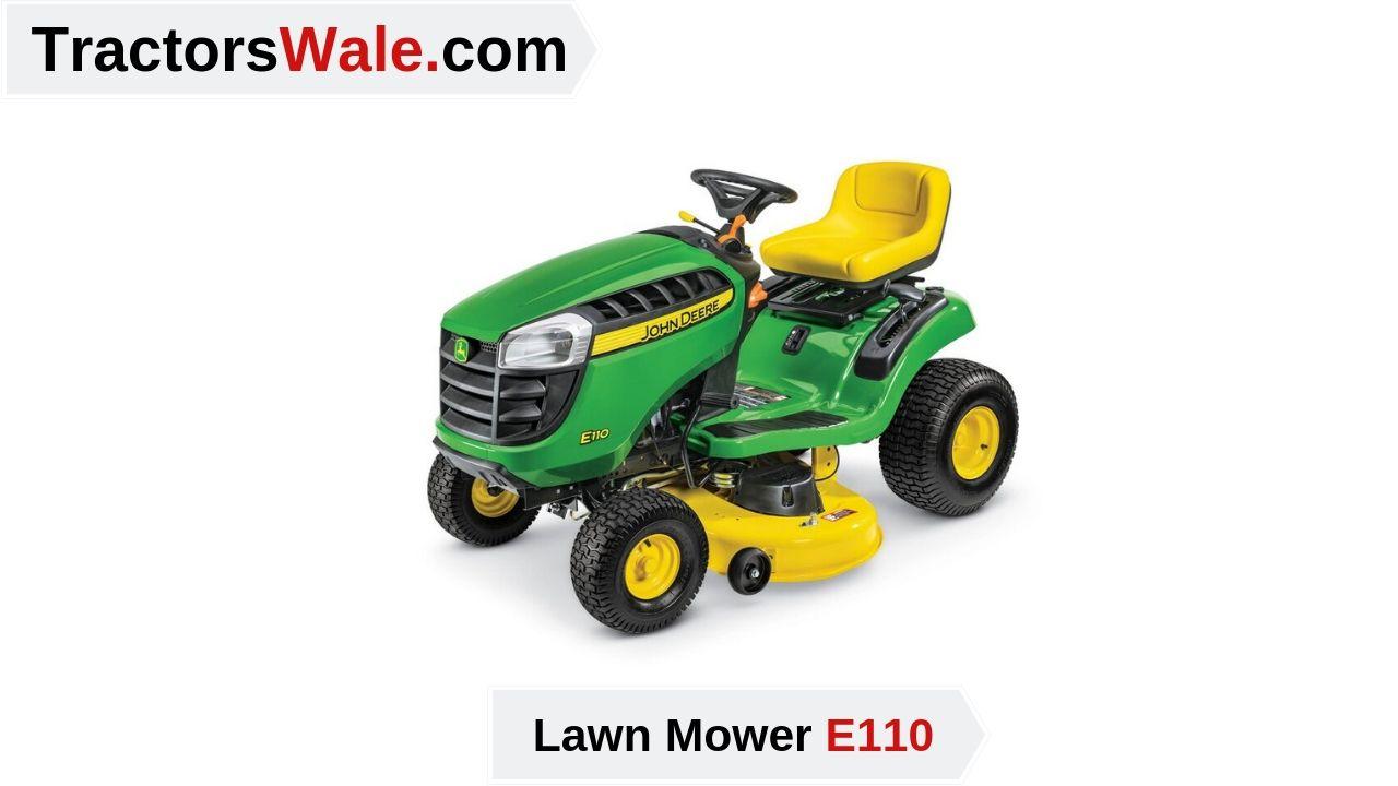 Lawn Mower E110 Grass Cutter Tractor Price Specs Lawn Tractor