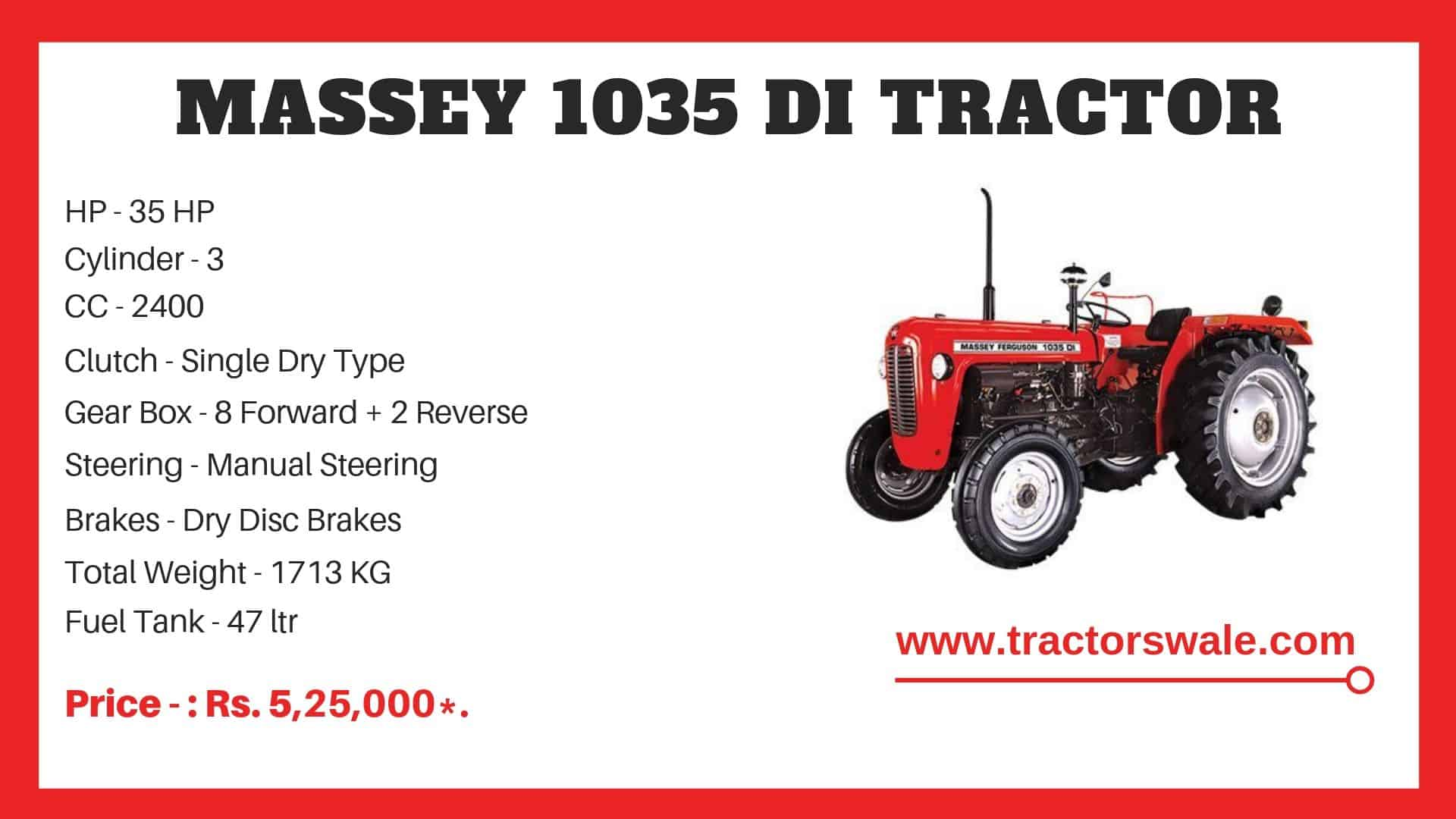 Massey Ferguson 1035 di Specifications
