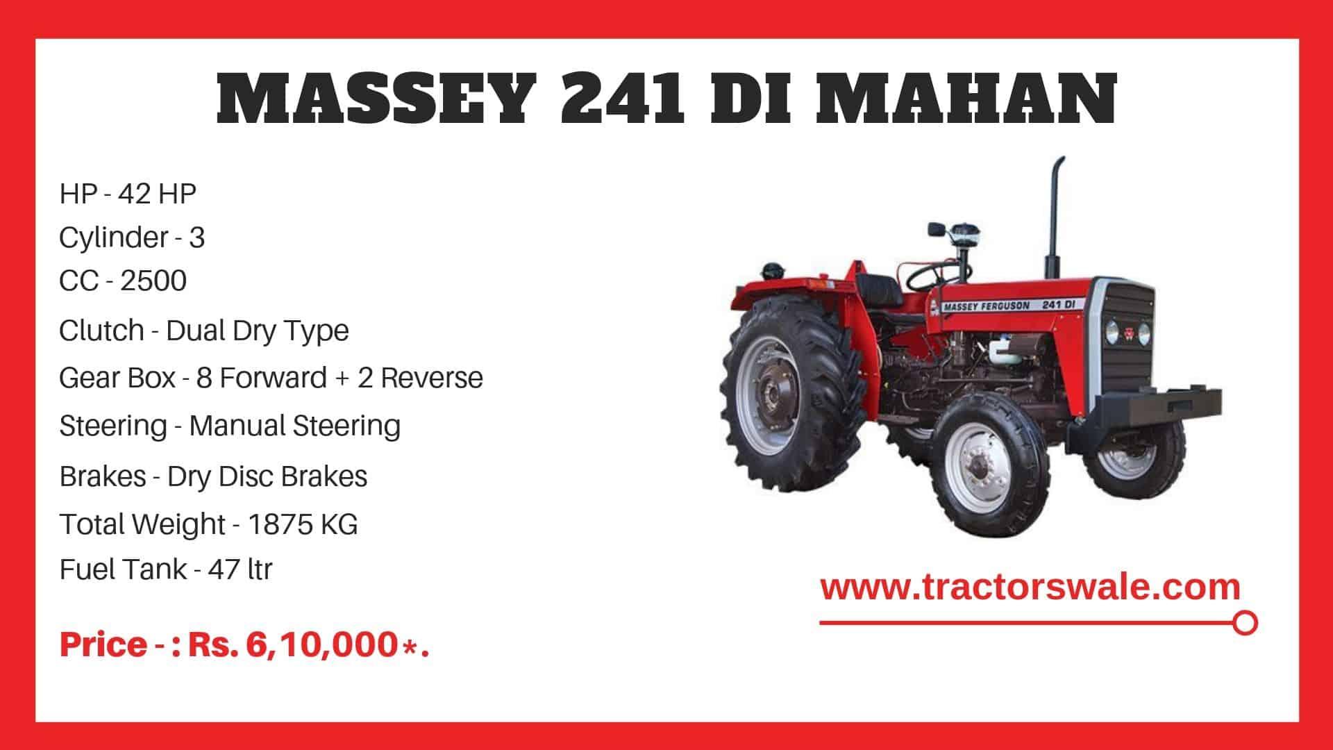 Massey Ferguson 241 DI MAHAN Specifications