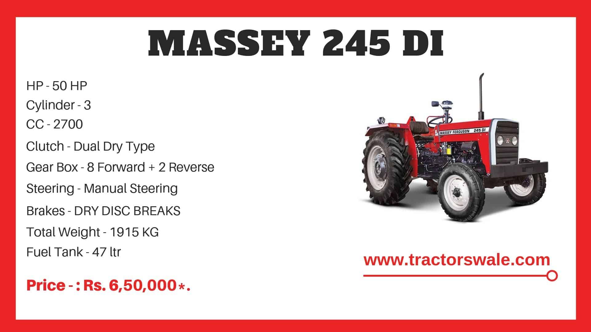 Massey Ferguson 245 DI Specifications