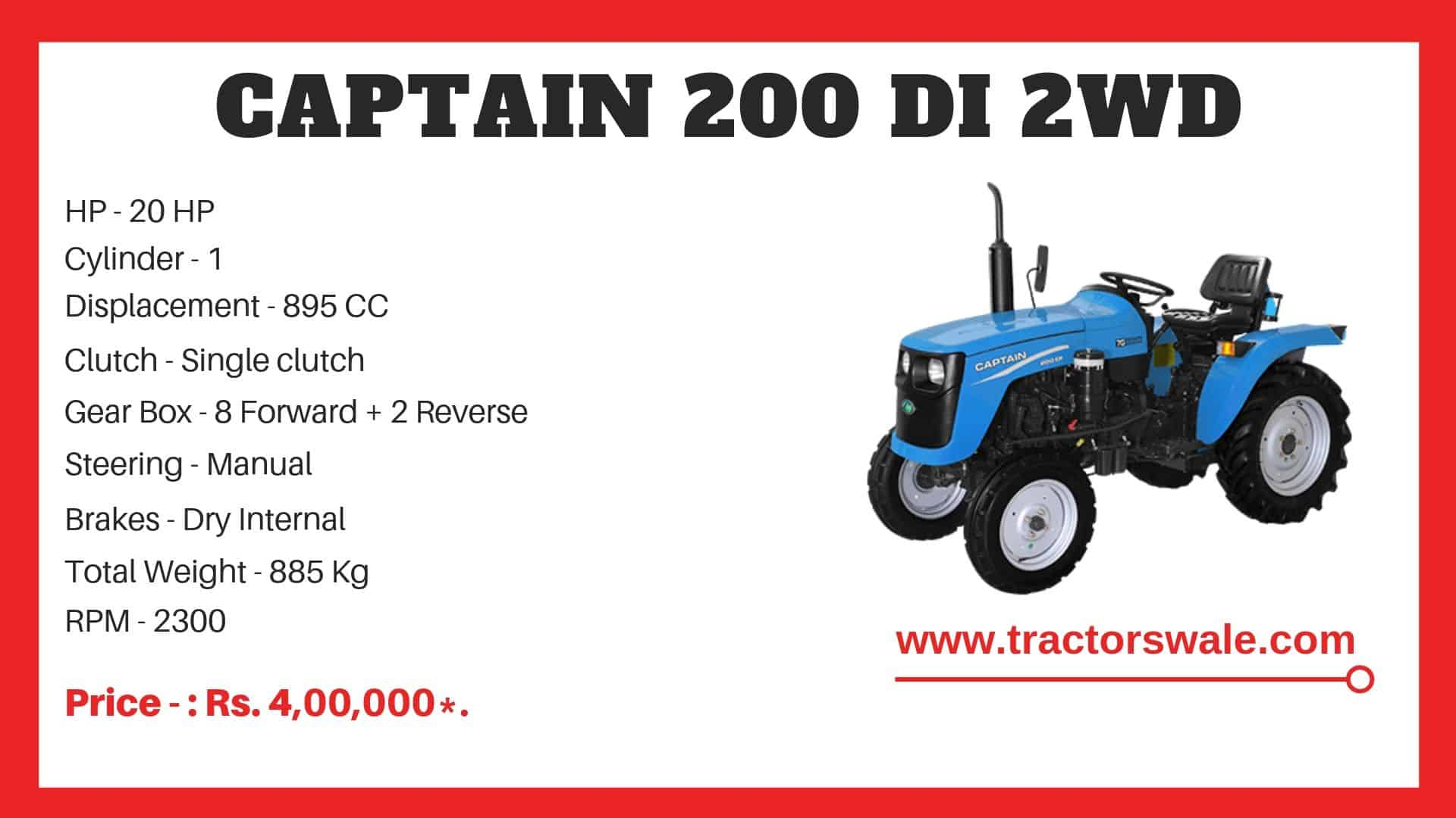 Specification of Captain 200 DI