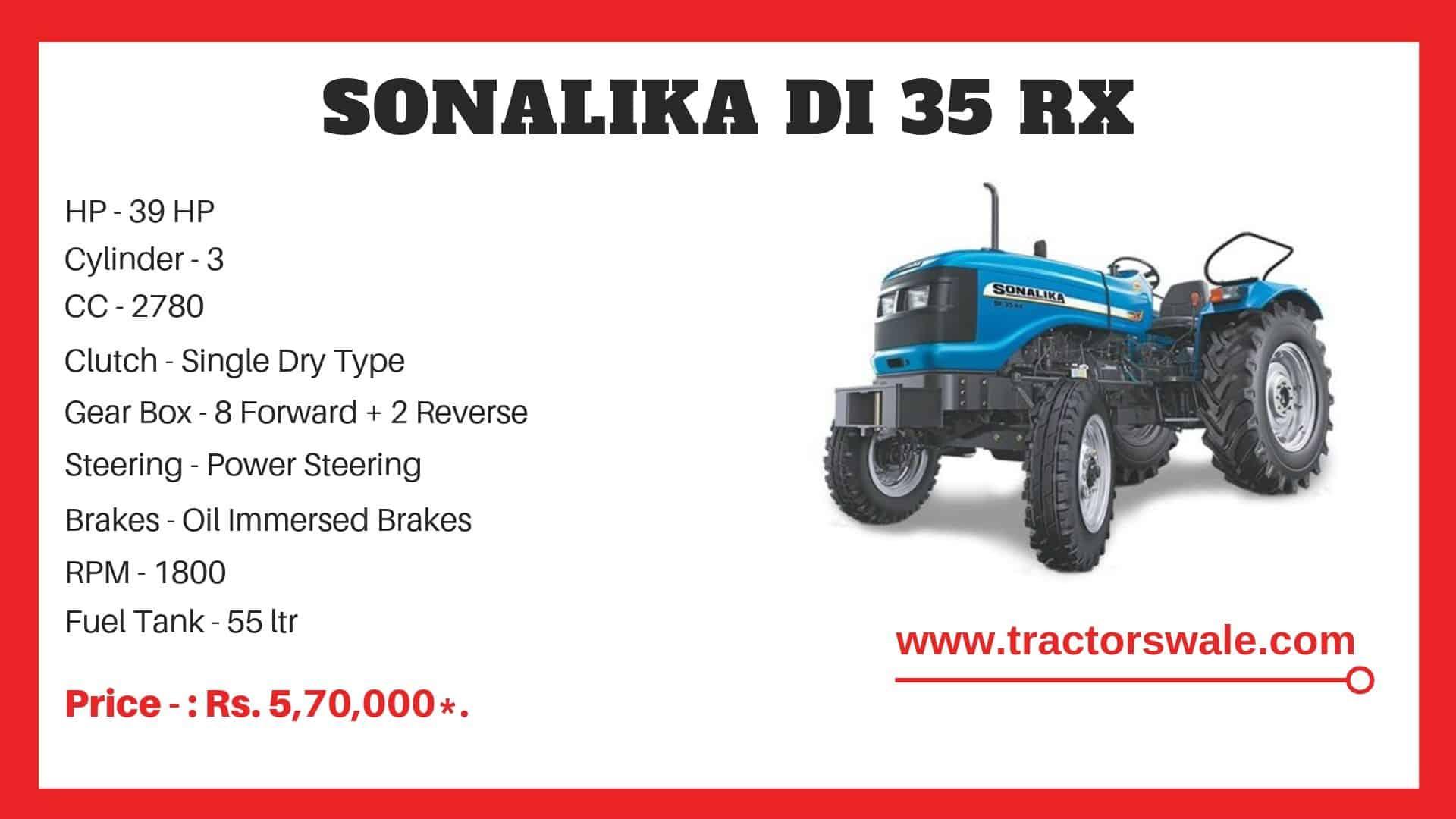 Sonalika DI 35 RX tractor specs