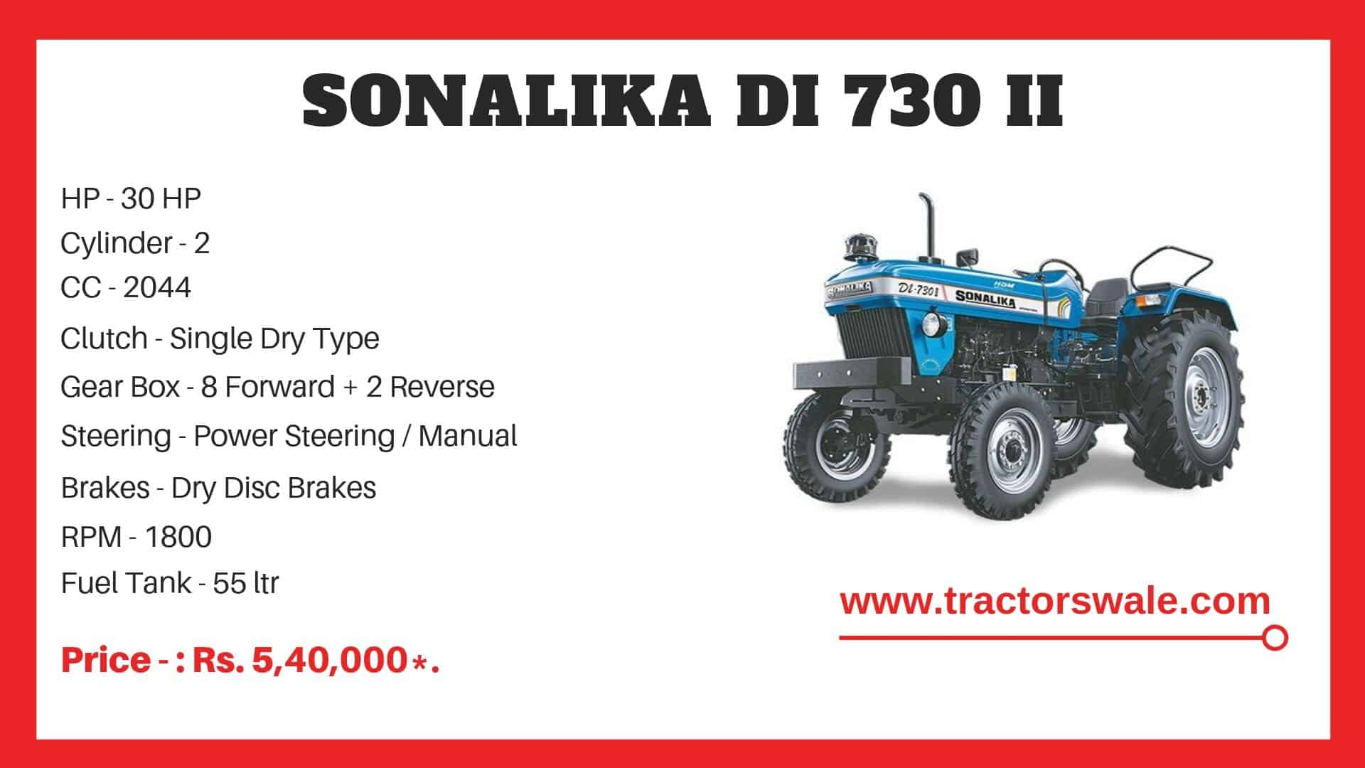 Sonalika DI 730 tractor specifications